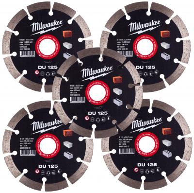 5 x Tarcza diamentowa fi 125 mm DU 125 Milwaukee (nr kat. 4932479631)