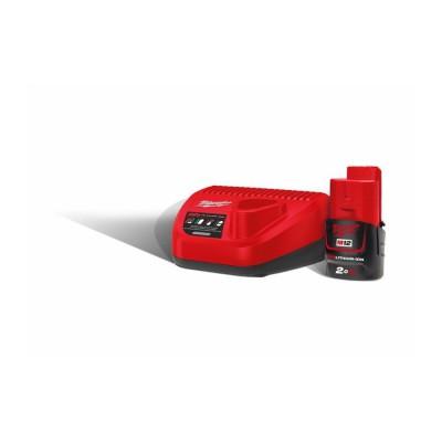 Akumulator + Ładowarka POWERPACK M12 NRG-201 MILWAUKEE (nr kat. 4933451900)
