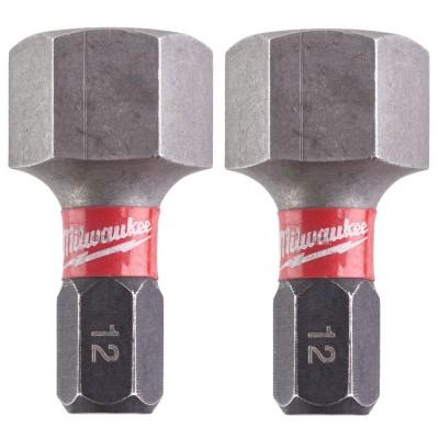 BIT HEX 12 x 25mm 2szt. Shockwave Impact Duty™ MILWAUKEE (nr kat. 4932430900)