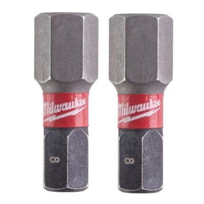 BIT HEX 8 x 25mm 2szt. Shockwave Impact Duty™ MILWAUKEE (nr kat. 4932430898)