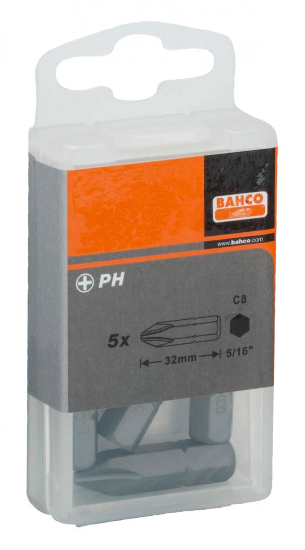 Bit Phillips PH2 5/16'' opak. 5 szt. Bahco (nr kat. 70S/PH2)