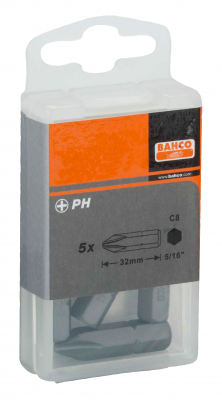 Bit Phillips PH2 5/16'' opak. 5 szt. Bahco (nr kat. 70S/PH2)