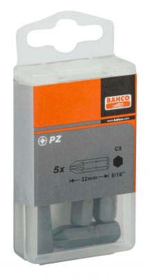 Bit Pozidriv PZ2 5/16'' opak. 5 szt. Bahco (nr kat. 70S/PZ2)