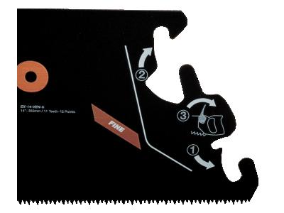 Brzeszczot do rękojeści EX 350 mm TPI 11/12 Superior Bahco (nr kat. EX-14-VEN-C)