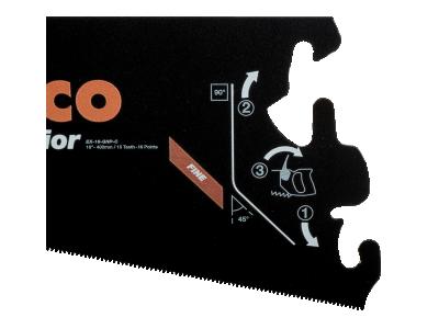 Brzeszczot do rękojeści EX 400 mm TPI 15/16 Superior Bahco (nr kat. EX-16-GNP-C)