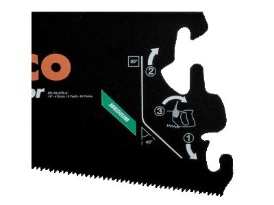 Brzeszczot do rękojeści EX 550 mm TPI 9/10 Superior Bahco (nr kat. EX-22-XT9-C)