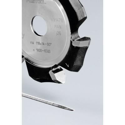 Frezy do wpustów w kształcie V HW 118x14-90°/Alu FESTOOL (nr kat. 491470)