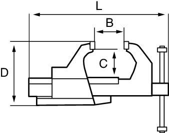 Imadło stołowe stałe 125 mm Bahco (nr kat. 834V-5)