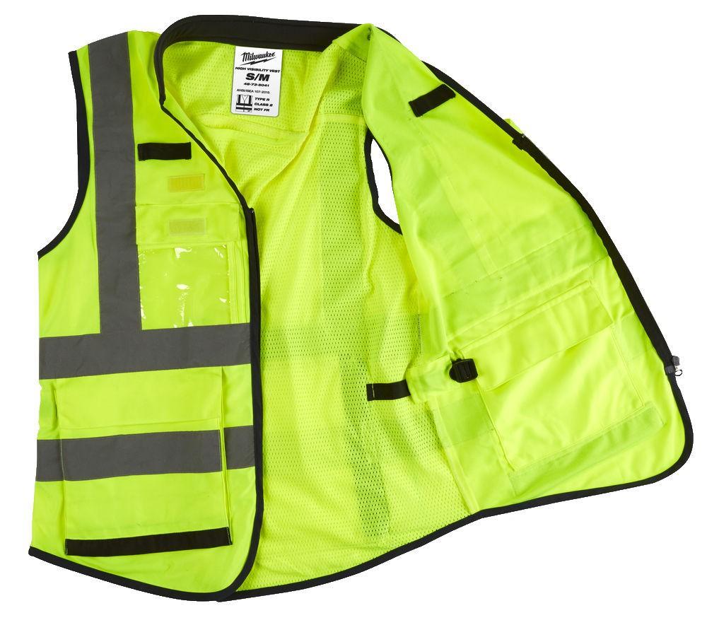 Kamizelka odblaskowa Premium 2XL/3XL żółta MILWAUKEE (nr kat. 4932471897)