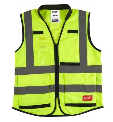 Kamizelka odblaskowa Premium S/M żółta MILWAUKEE (nr kat. 4932471895)