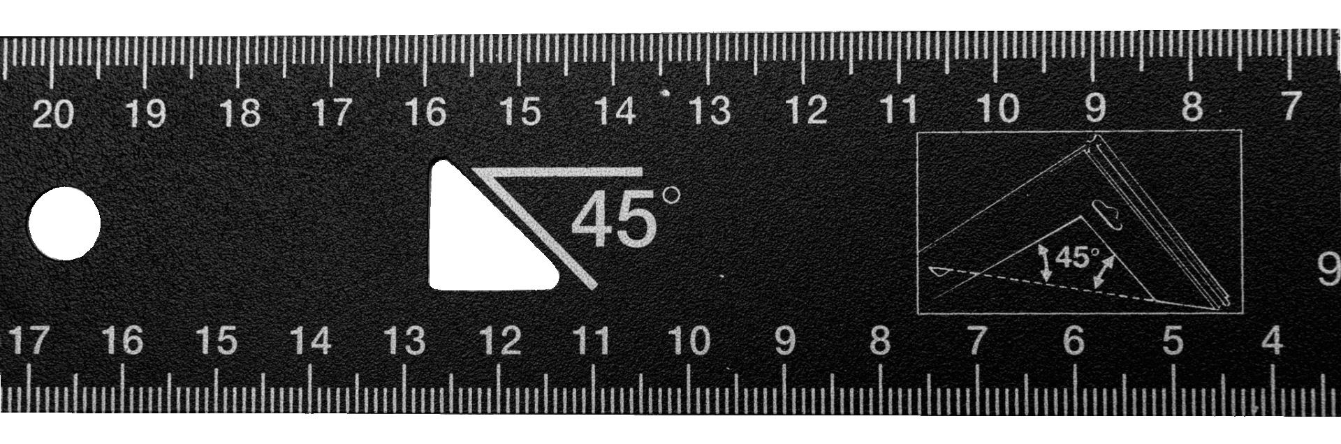 Kątownik 200 x 170 mm 90 i 45 stopni BAHCO (nr kat. 9045-B-200)