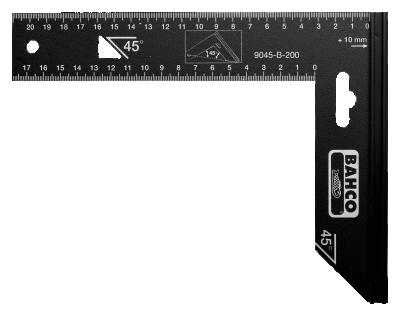 Kątownik 400 x 170 mm 90 i 45 stopni BAHCO (nr kat. 9045-B-400)