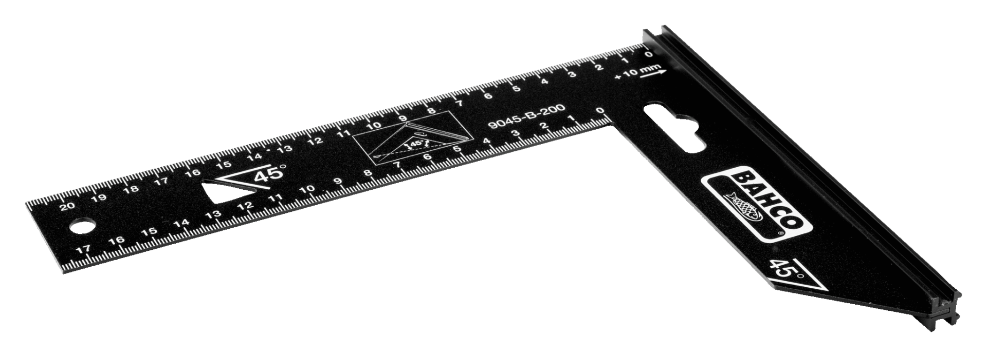 Kątownik 250 x 170 mm 90 i 45 stopni BAHCO (nr kat. 9045-B-250)