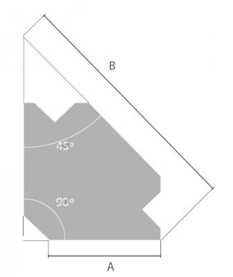 Kątownik spawalniczy magnetyczny Q1 Piher (nr kat. P29003)