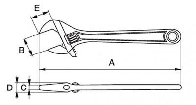 Klucz nastawny nierdzewny 375 mm Bahco (nr kat. SS001-375)