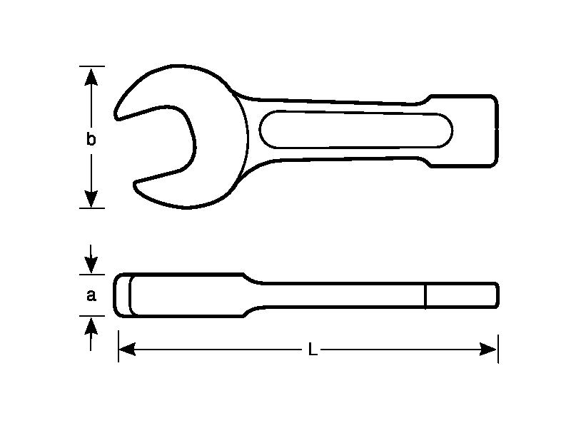 Klucz płaski nieiskrzący do pobijania 71 mm Bahco (nr kat. NS100-71)