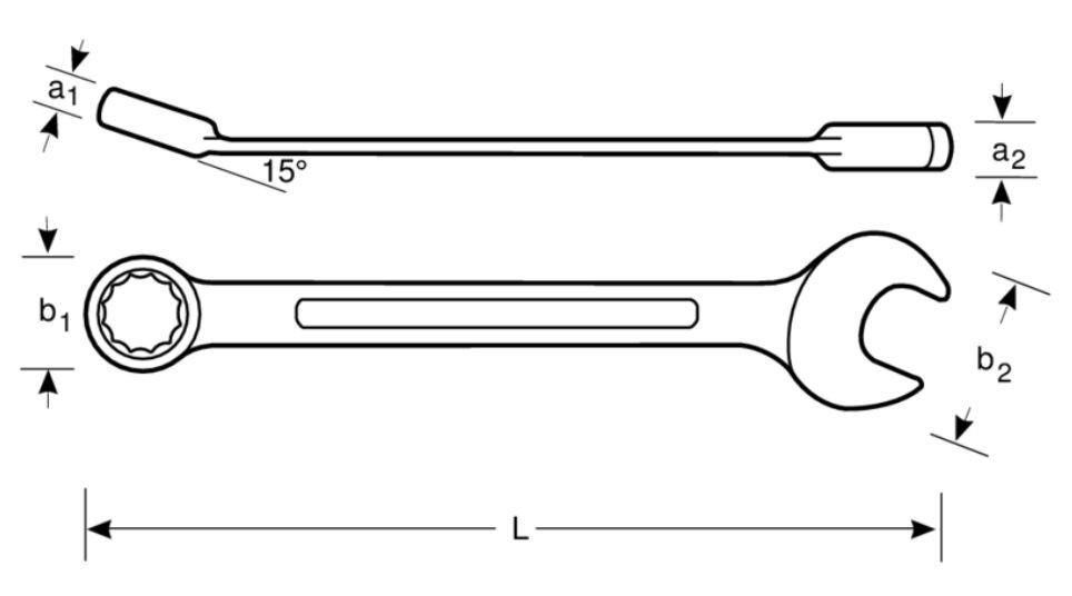 Klucz płasko-oczkowy nieiskrzący 22 mm Bahco (nr kat. NS002-22)