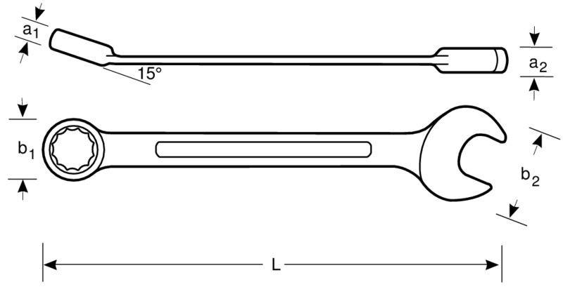 Klucz płasko-oczkowy z grzechotką 27 mm Dynamic-Drive Bahco (nr kat. 1RM-27)