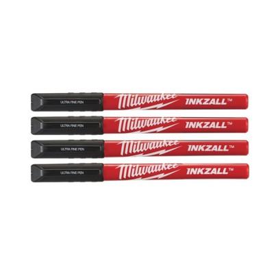 Marker cienki czarny 4 szt. INKZALL™ MILWAUKEE (nr kat. 48223164)