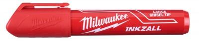 """Marker czerwony gruby """"L"""" INKZALL MILWAUKEE (nr kat. 4932471556)"""