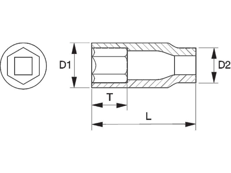 "Nasadka długa 1/2"" 18 mm BAHCO (nr kat. 7805SM-18)"