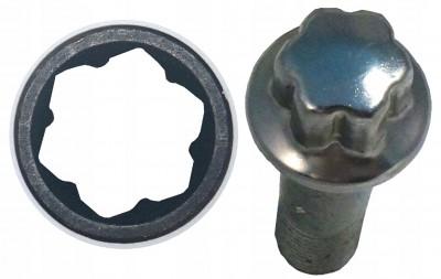 """Nasadka udarowa 17 mm 1/2"""" do śrub antykradzieżowych w Mercedesie Bahco (nr kat. BWSMB17)"""