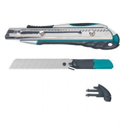 Nóż Profi z ostrzem odłamywanym 18mm z podwójna funkcją WOLFCRAFT (nr kat. 4284000)