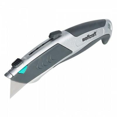 Nóż Profi z ostrzem trapezowym z funkcją automatycznej wymiany ostrza WOLFCRAFT (nr kat. 4320000)