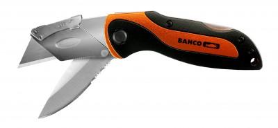 Nóż uniwersalny z dwoma ostrzami składany Bahco (nr kat. KBTU-01)