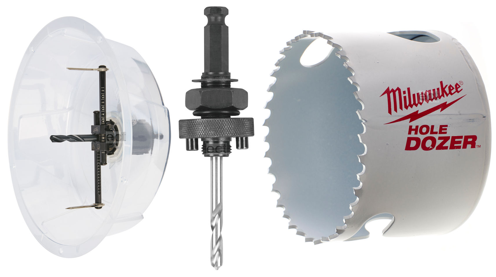 Otwornica nastawna 1-178 mm + uchwyt + otwornica BI 68 mm MILWAUKEE (nr kat. 4932478930)