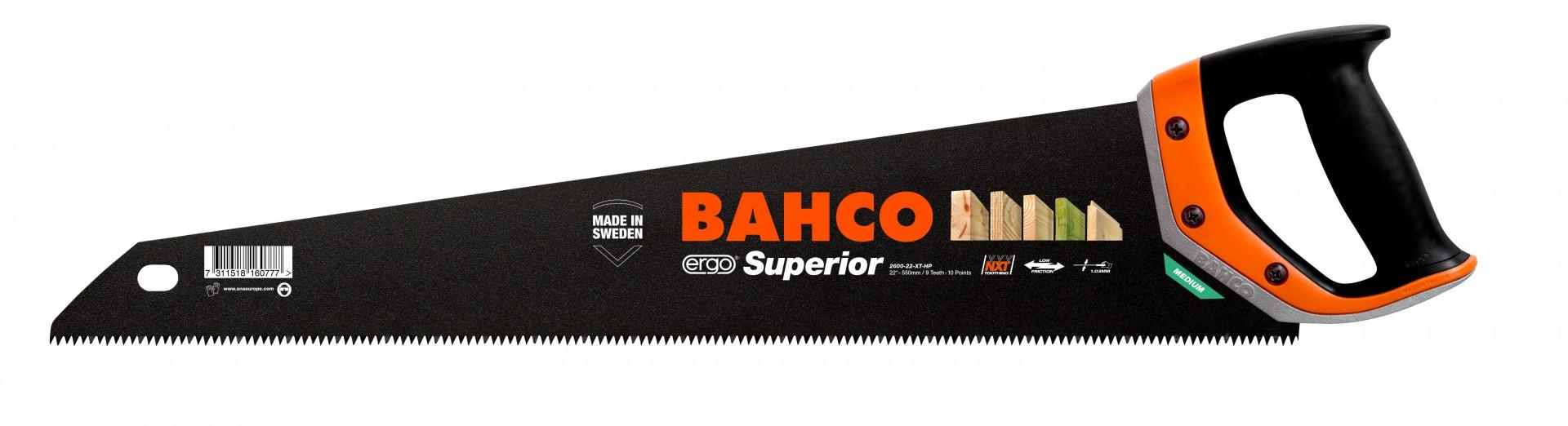 Piła do drewna płatnica 475 mm 9/10 TPI Superior Ergo Bahco (nr kat. 2600-19-XT-HP)