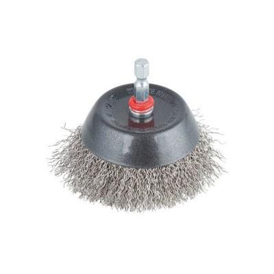 Szczotka doczołowa 75 mm drut ze stali nierdzewnej trzpień HEX WOLFCRAFT (nr kat. 2746000)