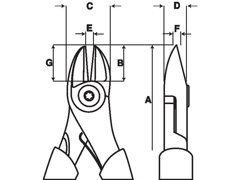 Szczypce boczne 140 mm oksydowane Ergo Bahco (nr kat. 2101G-140)