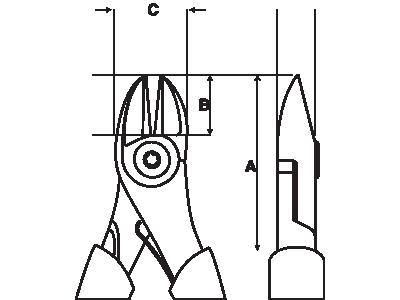 Szczypce boczne nierdzewne 195 mm Bahco (nr kat. SS402-200)