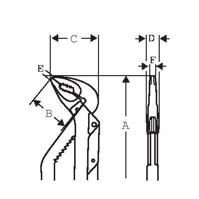 Szczypce nastawne 225 mm Ergo Bahco (nr kat. 8231)