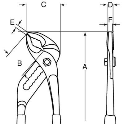Szczypce nastawne 250 mm Bahco (nr kat. 7224)