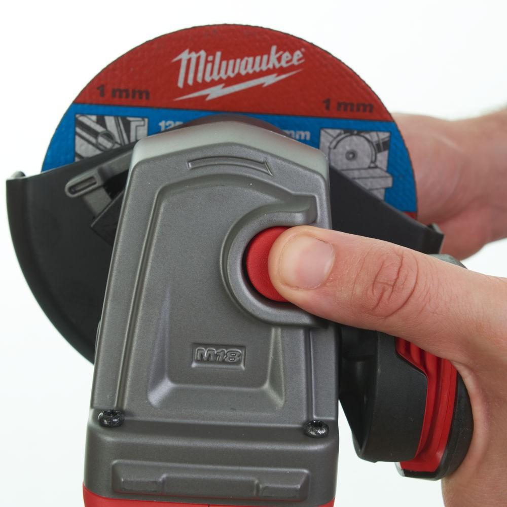 Szlifierka kątowa akumulatorowa 125 mm M18 CAG125XPD-0 MILWAUKEE (nr kat. 4933447605)