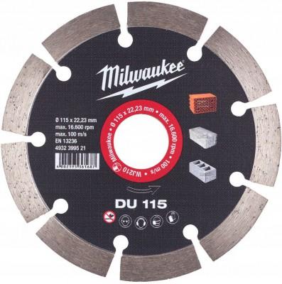 Tarcza diamentowa fi 115 mm DU 115 MILWAUKEE (nr kat. 4932399521)