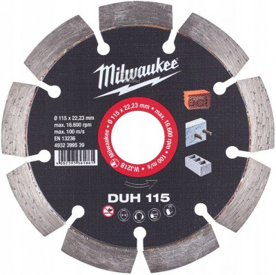 Tarcza diamentowa fi 115 mm DUH 115 MILWAUKEE (nr kat. 4932399539)
