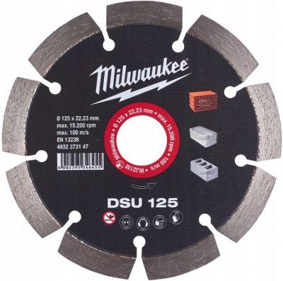Tarcza diamentowa fi 125 mm DSU 125 MILWAUKEE (nr kat. 4932373147)