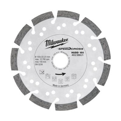 Tarcza diamentowa fi 150 mm SPEEDCROSS HUDD 150 MILWAUKEE (nr kat. 4932399821)