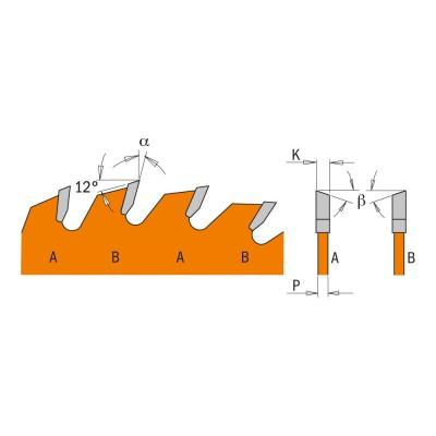 Tarcza pilarska do drewna Ø 165 x 20 mm 24 zęby CMT (nr kat. 271.165.24H)