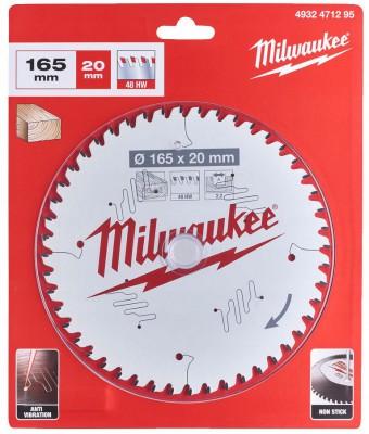 Tarcza pilarska do drewna Ø 165 x 20 mm 48 zębów MILWAUKEE (nr kat. 4932471295)