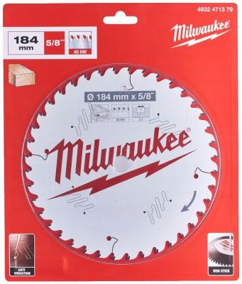 Tarcza pilarska do drewna Ø 184 x 15,87 mm 40 zębów MILWAUKEE (nr kat. 4932471379)