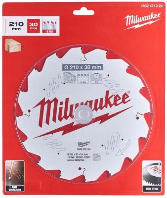 Tarcza pilarska do drewna Ø 210 x 30 mm 18 zębów MILWAUKEE (nr kat. 4932471324)