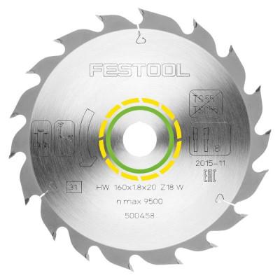 Tarcza pilarska Standard 160x1,8x20 W18 FESTOOL (nr kat. 500458)