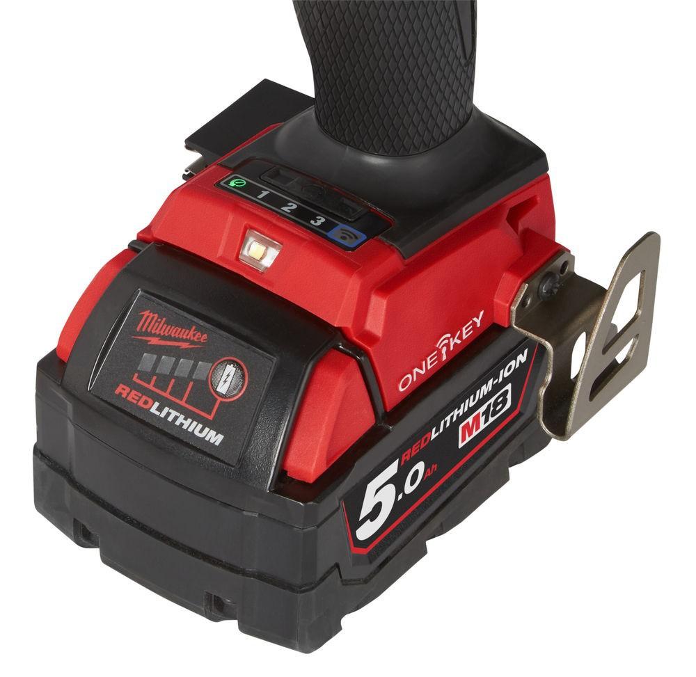 Wiertarko-wkrętarka akumulatorowa udarowa 135 Nm M18 ONEPD2-502X MIWLWAUKEE (nr kat. 4933464527)