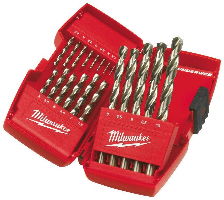 Wiertła do metalu HSS-G zestaw 19 szt. THUNDERWEB + zestaw bitów 56 szt. Shockwave MILWAUKEE (nr kat. 4932478901)