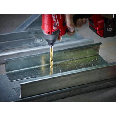 Wiertło do metalu HSS-G TiN fi 6x105 mm HEX MILWAUKEE (nr kat. 48894714)