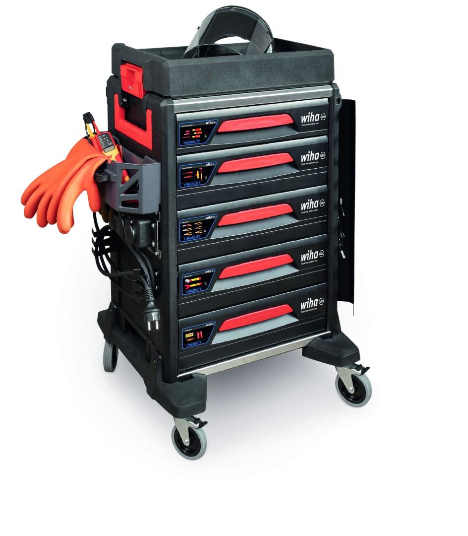 Wózek serwisowy do samochodów elektrycznych eMobility 113 cz. WIHA (nr kat. 44423)